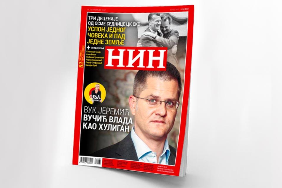 Вук Јеремић за НИН - Вучић влада као хулиган