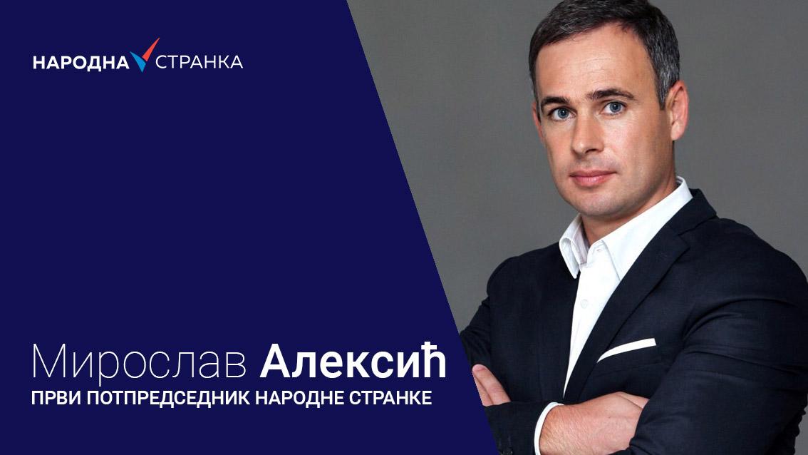 Мирослав Алексић: Србија је у стању принудне управе једног човека