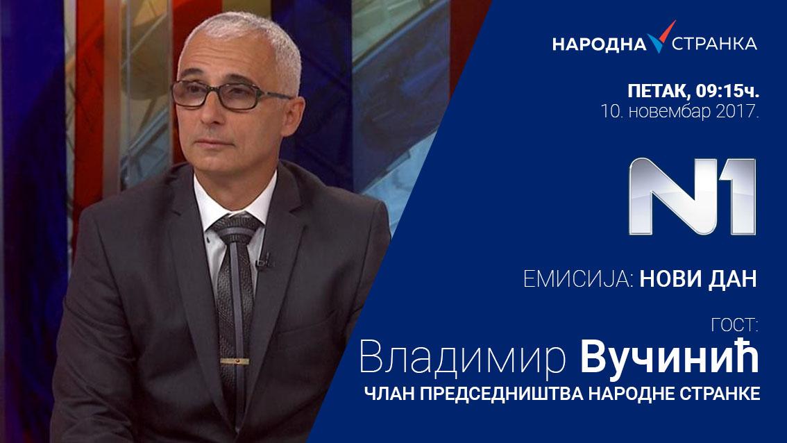 Владимир Вучинић у емисији Нови дан на N1