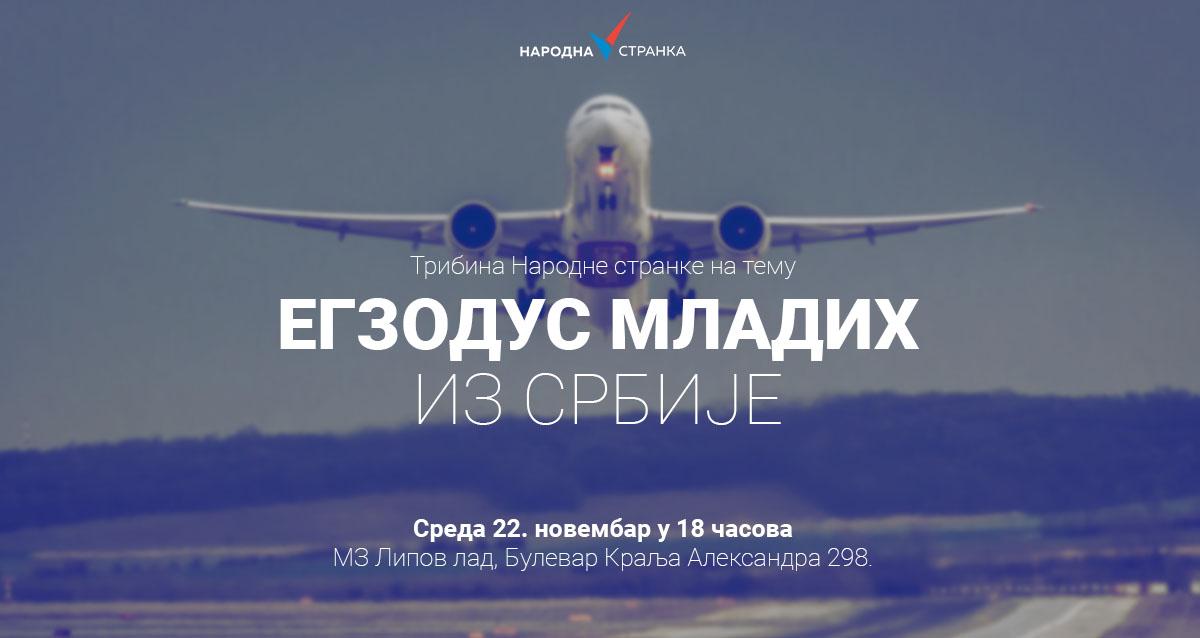 """Трибина """"Егзодус младих из Србије"""""""