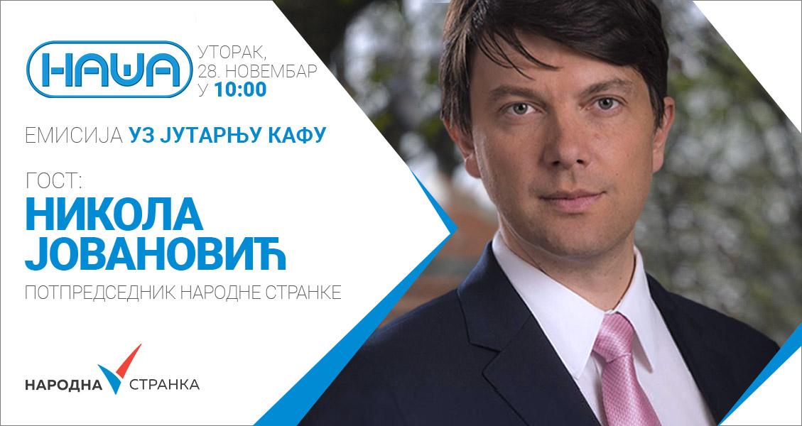 Јовановић на ТВ Наша од 10 часова