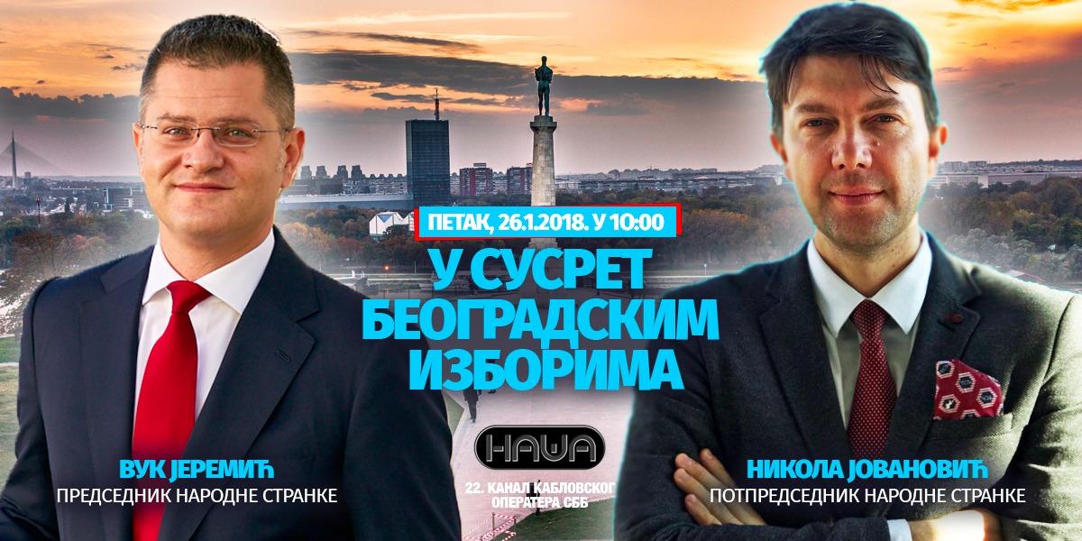 Јеремић и Јовановић на ТВ Наша, петак, 26. јануар, у 10 сати