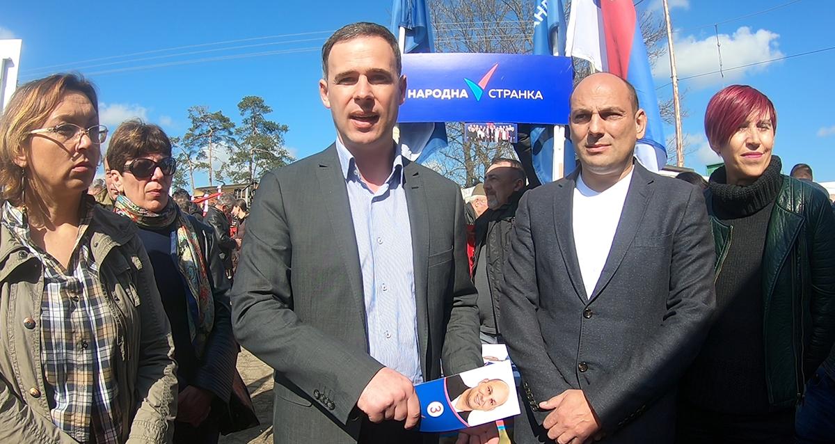 Алексић у Смедеревској Паланци: Гласајте за промене, напредњачка власт је потпуно неспособна