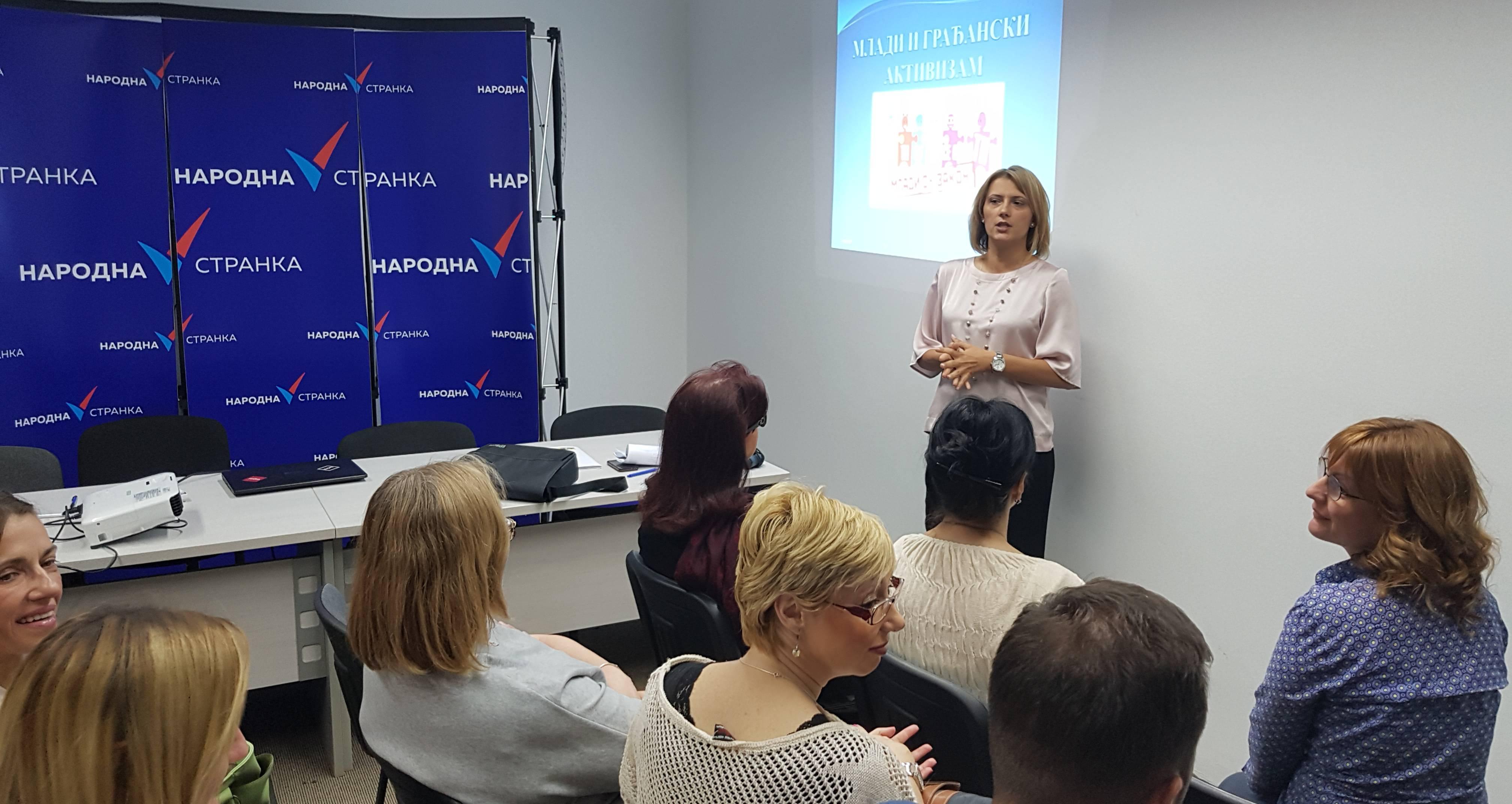 Марина Липовац Танасковић: Народна странка посвећена раду са младима и побољшању њиховог положаја