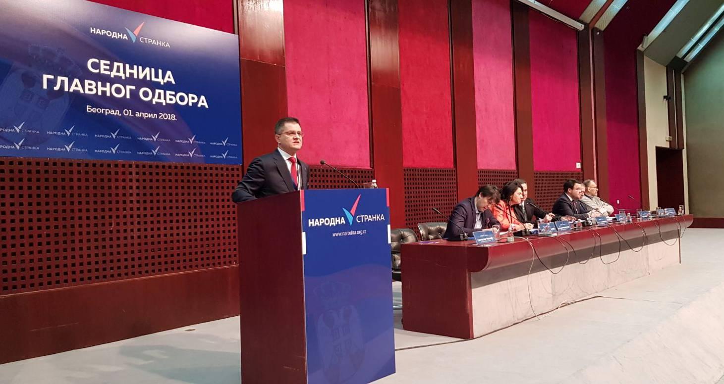 Јеремић: Народна странка за пет месеци постојања постала најјача опозициона странка