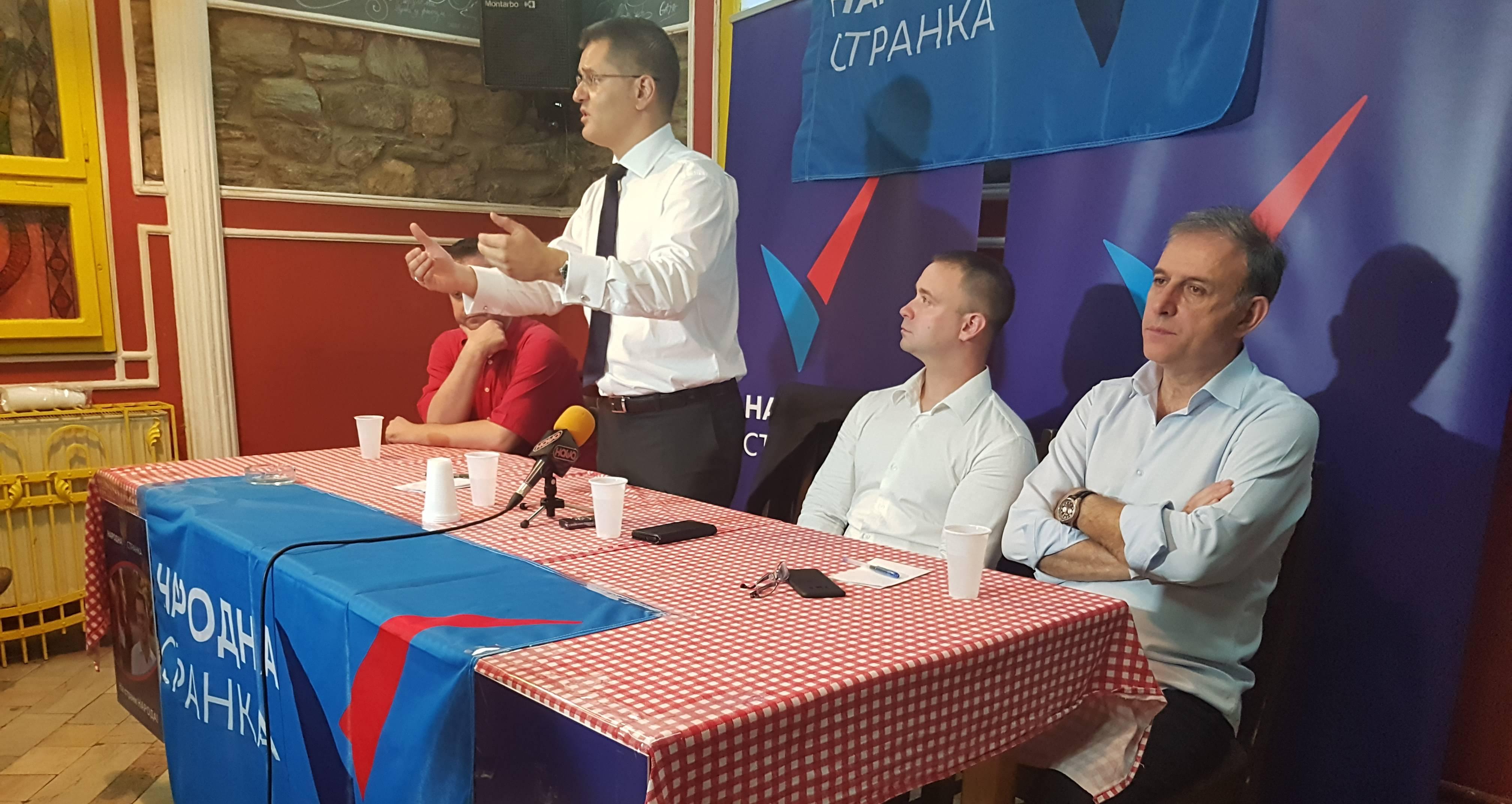 Јеремић: Народна странка ће бити темељ опозиционог савеза