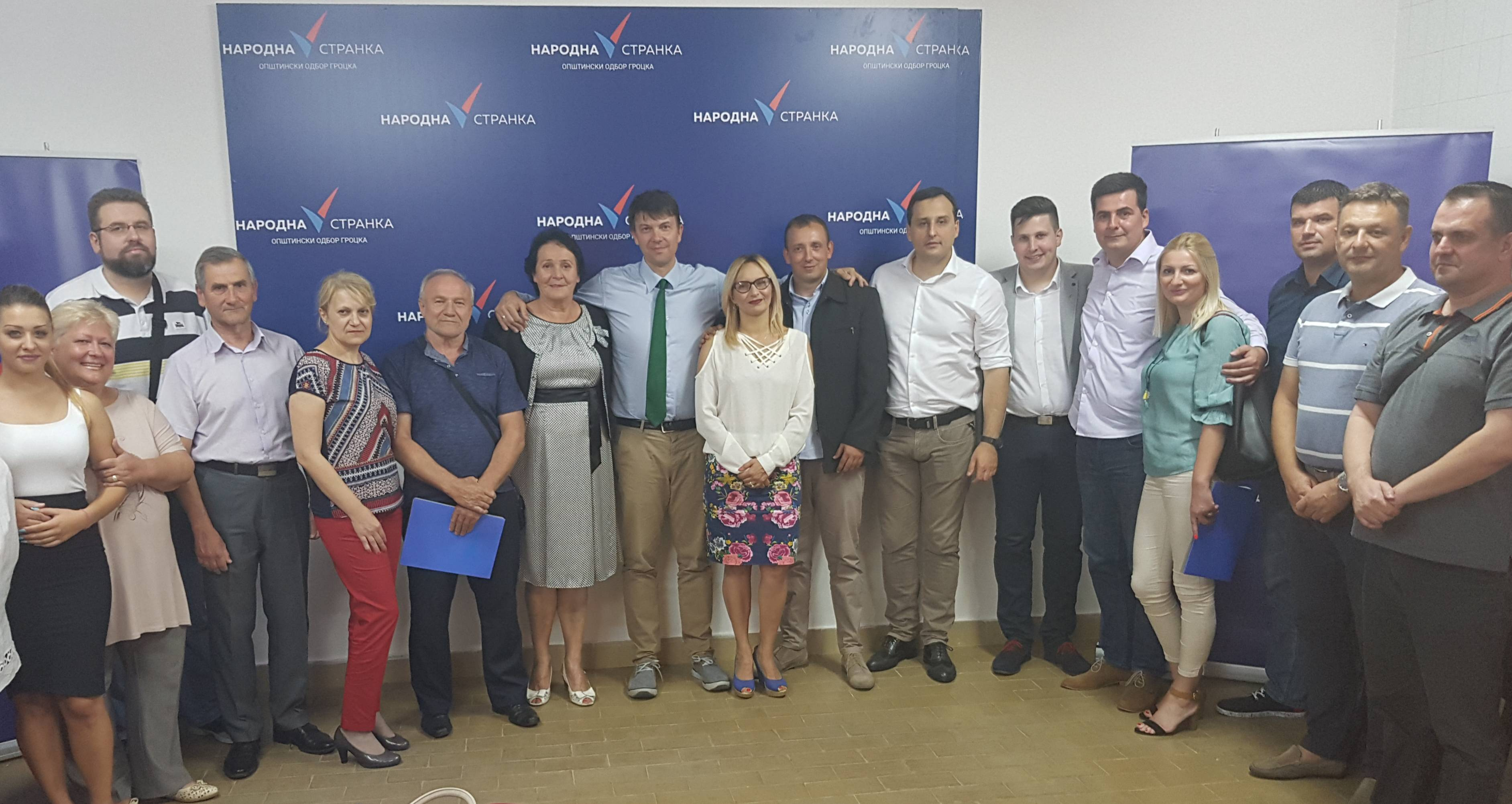 Београд: Основан Општински одбор Народне странке Гроцка