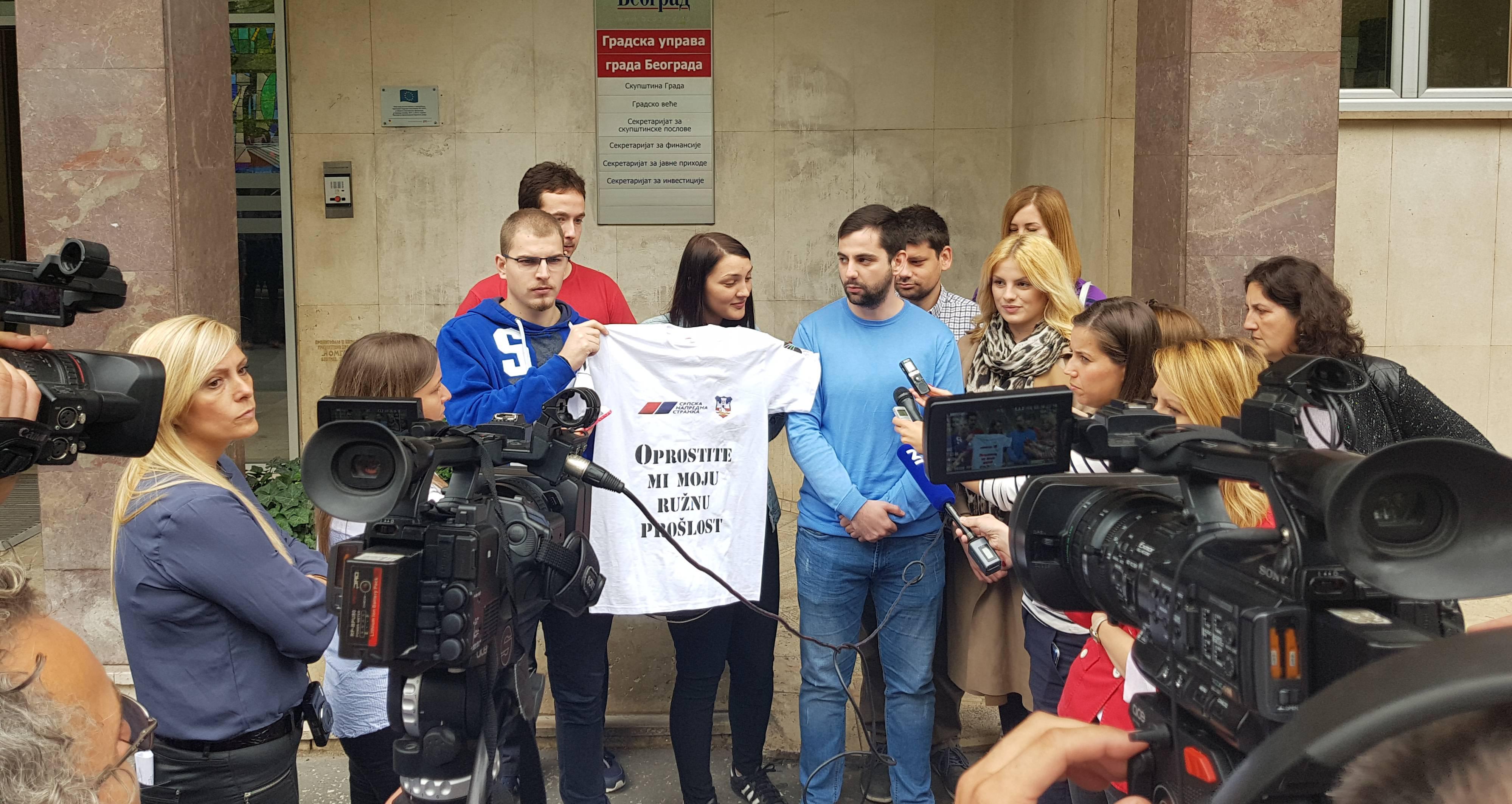 Акција Омладине Народне странке: Весић не може да побегне од своје биографије