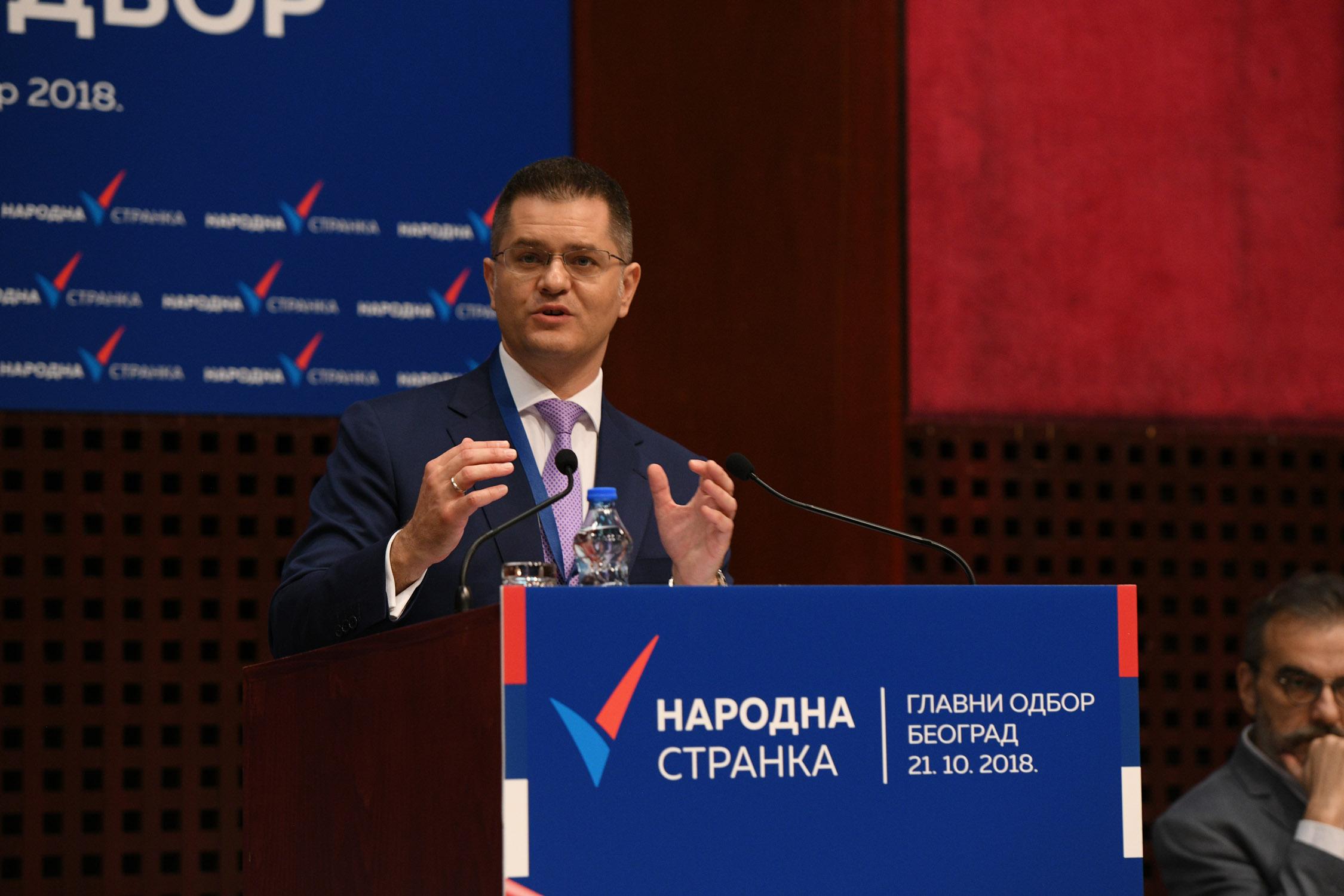 Јеремић поводом годину дана од оснивања Народне странке: Ми ћемо водити државу