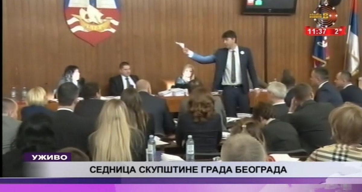 Говор Николе Јовановића због кога је прекинута расправа у Скупштини града Београда