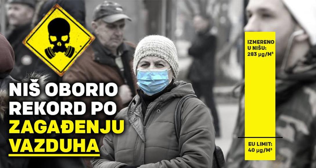 Народна странка Ниш: Загађење ваздуха све веће, власт не реагује