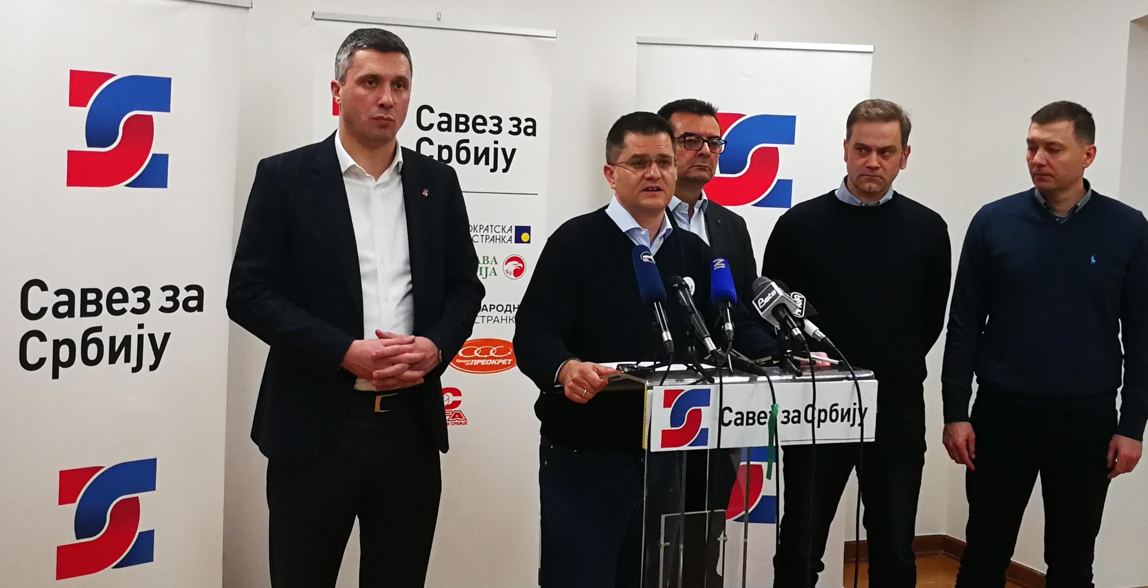 Јеремић: Врата отворена свима, СЗС за јединство опозиције