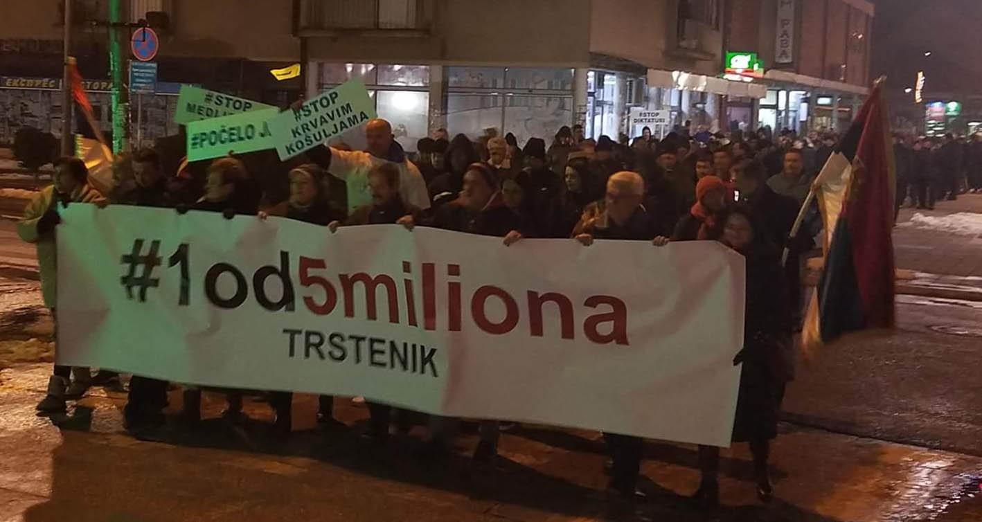 Народна странка Трстеник: Кривичне пријаве због претњи учесницима протеста