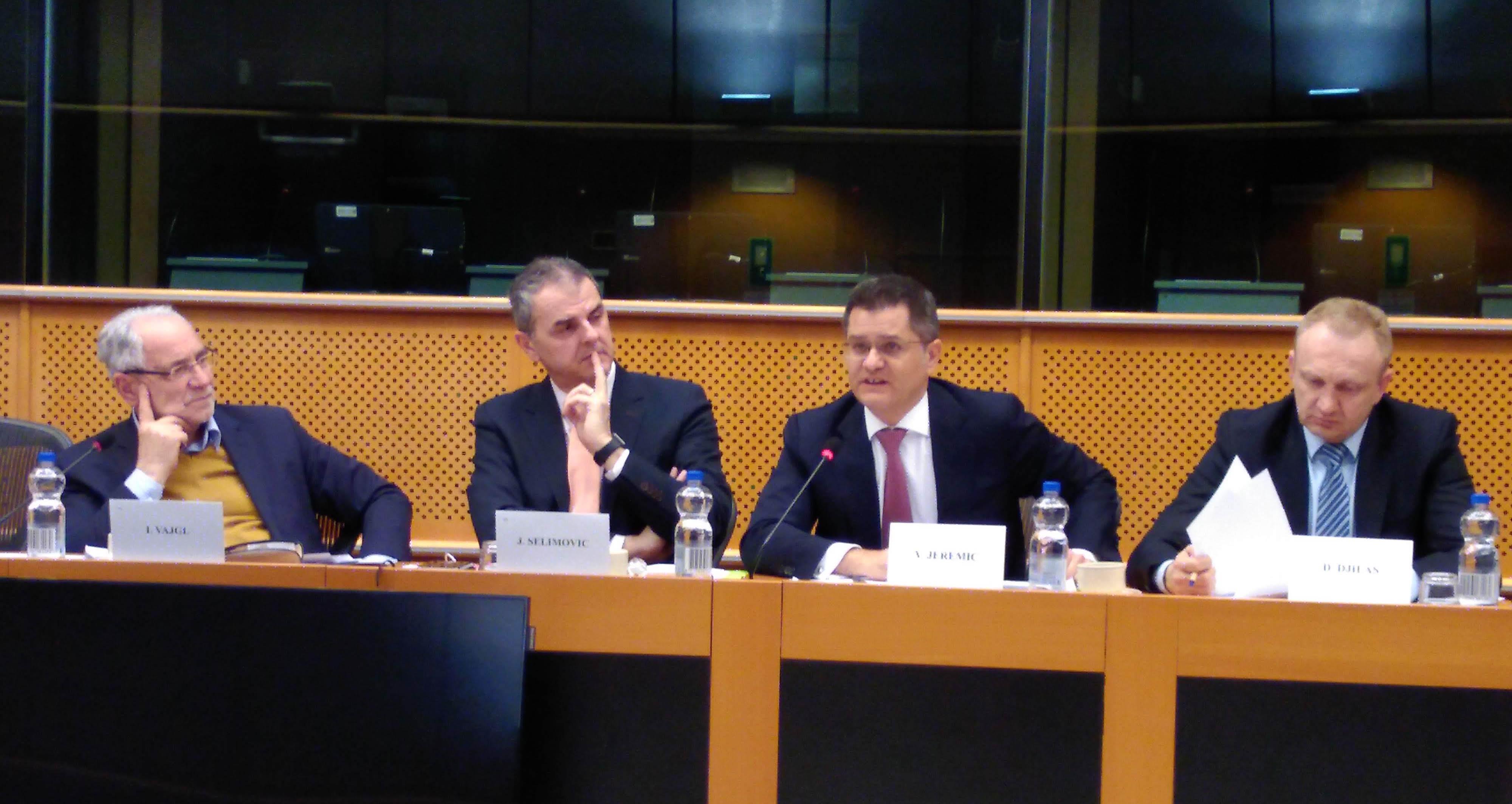 Јеремић и Ђилас у Европском парламенту у Бриселу