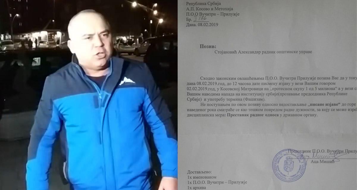 Претња отказом на Косову и Метохији због јавног критиковања Вучића