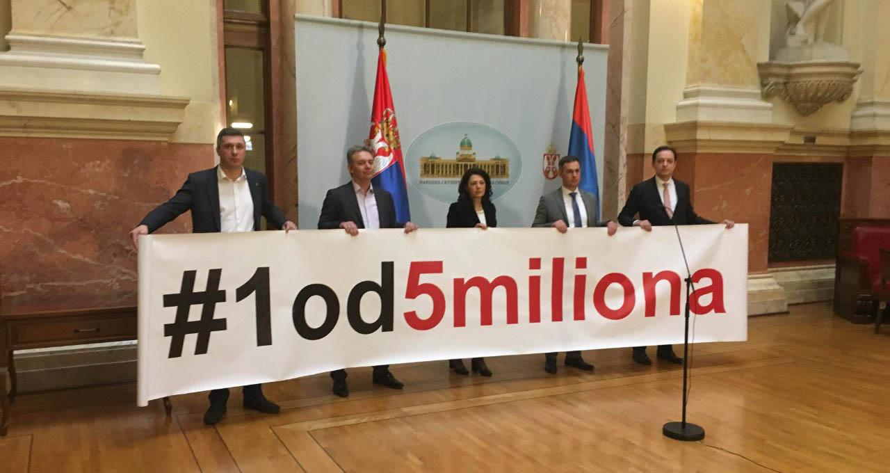 Посланици Народне странке и СЗС бојкотују рад Скупштине Србије