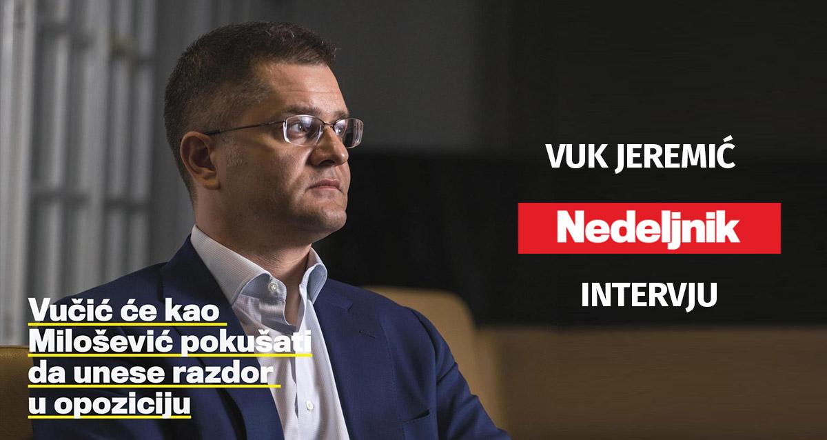Јеремић: Не занима ме функција, борим се за промену система