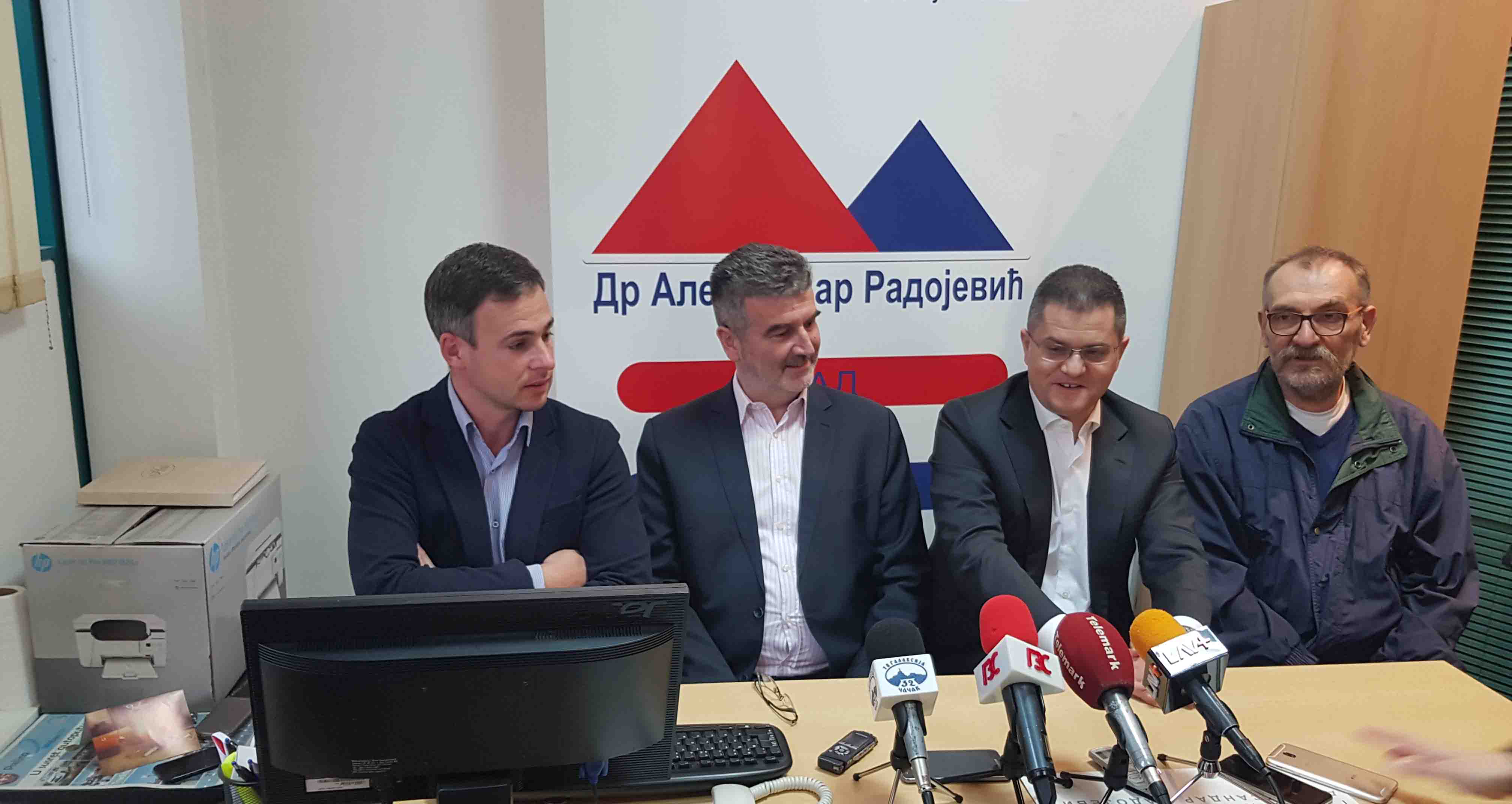 Народна странка Чачак: Основано повереништво, др Александар Радојевић повереник