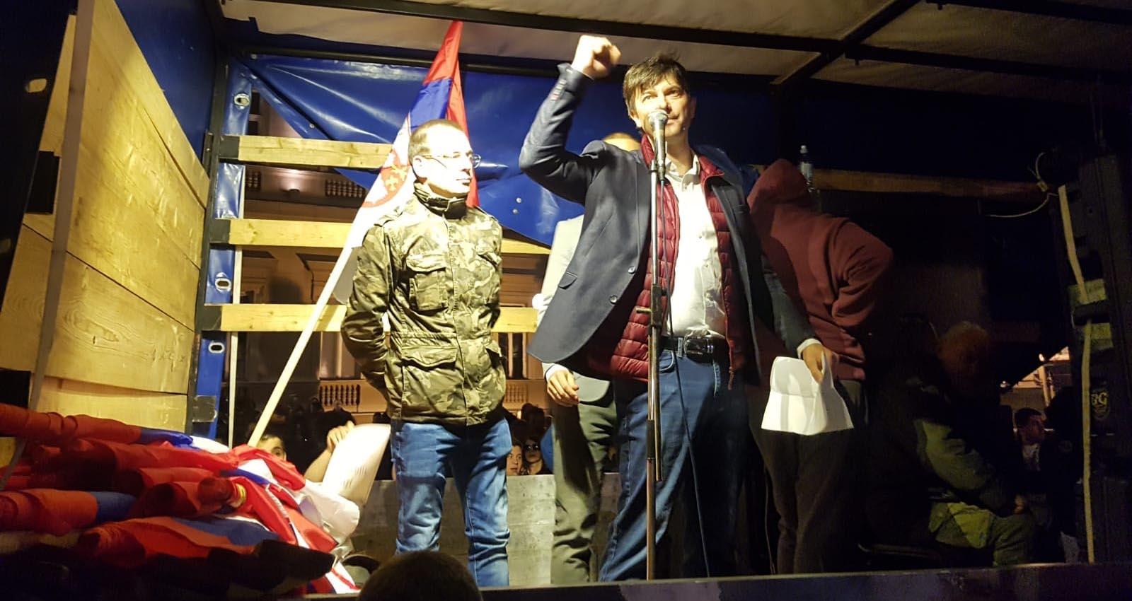 Јовановић на протесту у Београду: Преживели смо стране окупаторе, преживећемо и малог Нерона из Крушевца!