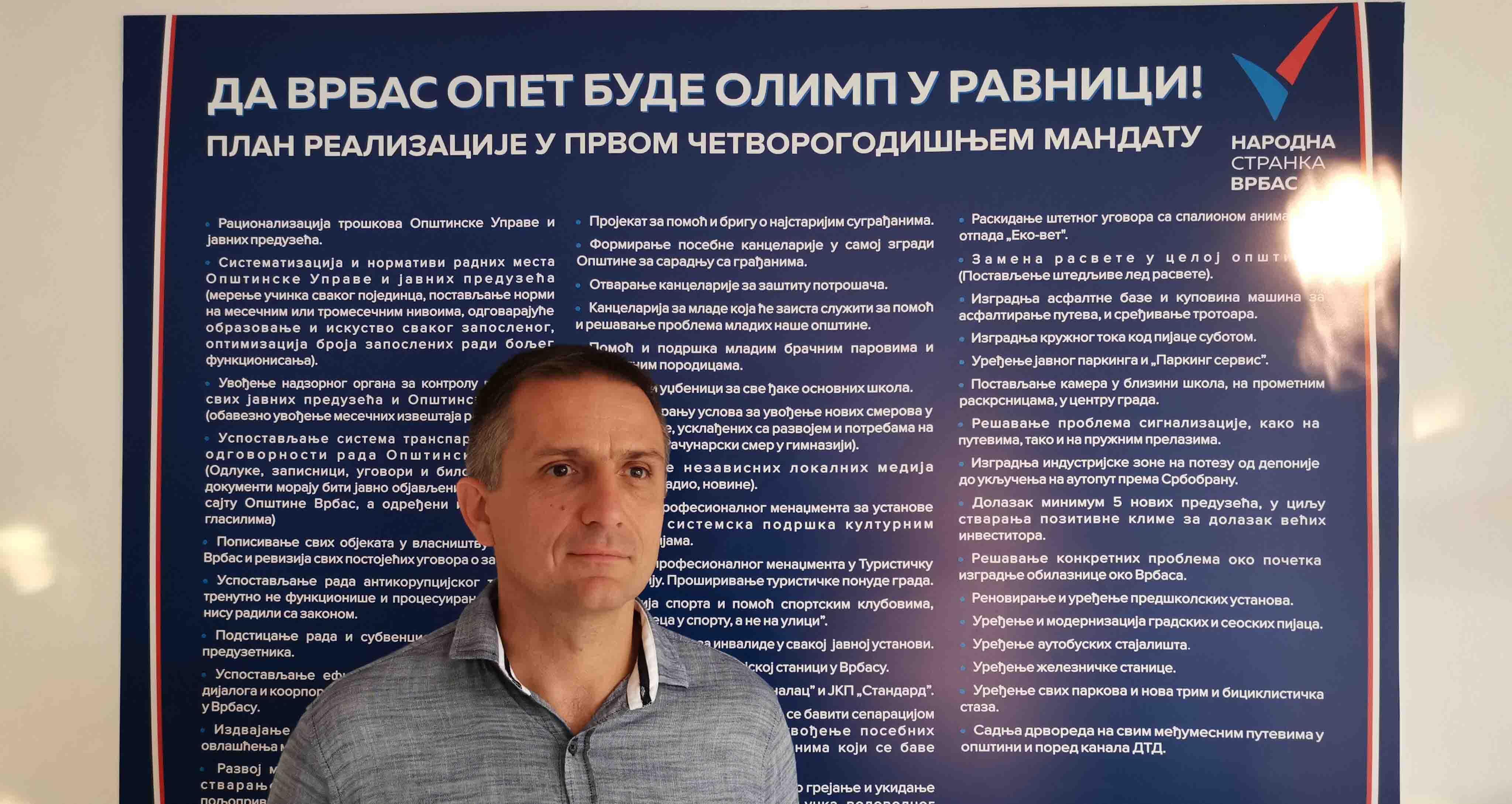 Народна странка Врбас: План за вођење локалне самоуправе – нови приступ политици