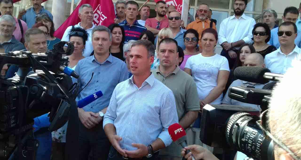 Алексић у Медвеђи: Крећемо у озбиљну кампању бојкота, нема услова за фер изборе