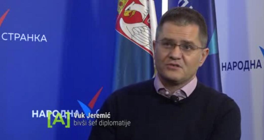Јеремић: Вучићеву спољну политику карактеришу простаклук, незнање и снисходљивост према странцима