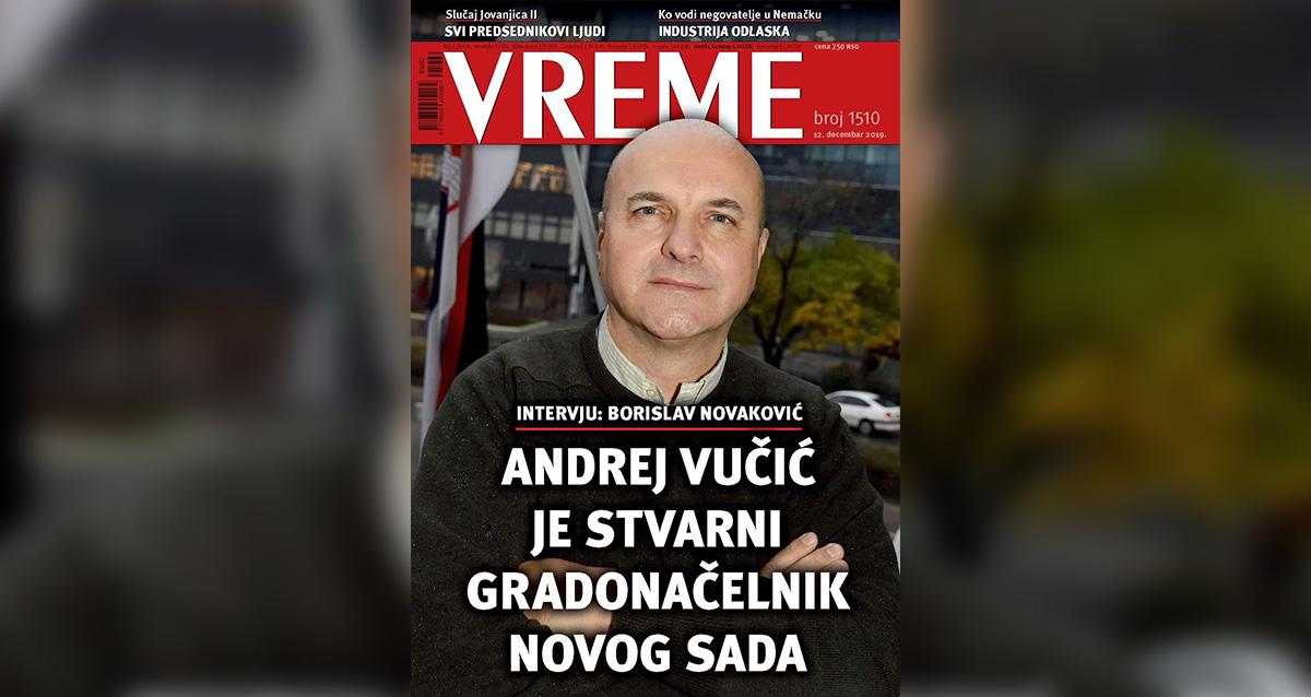"""Новаковић за """"Време"""": Андреј Вучић је стварни градоначелник Новог Сада"""
