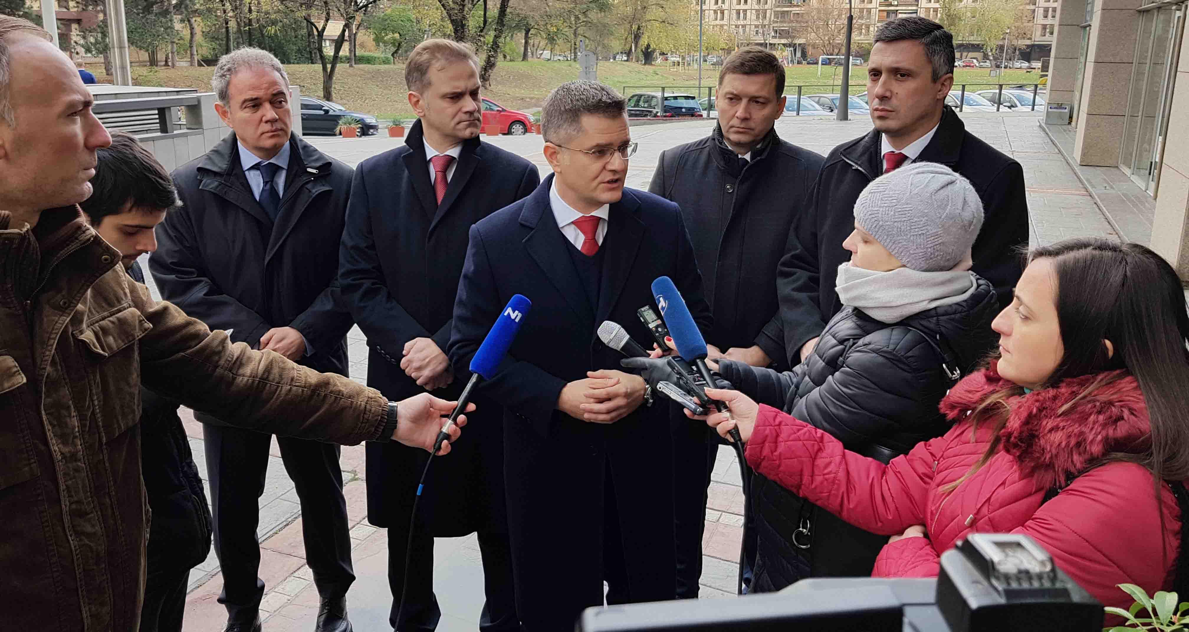 Јеремић после састанка са делегацијом ЕП: СЗС неће учествовати на изборима на пролеће 2020. године и тачка