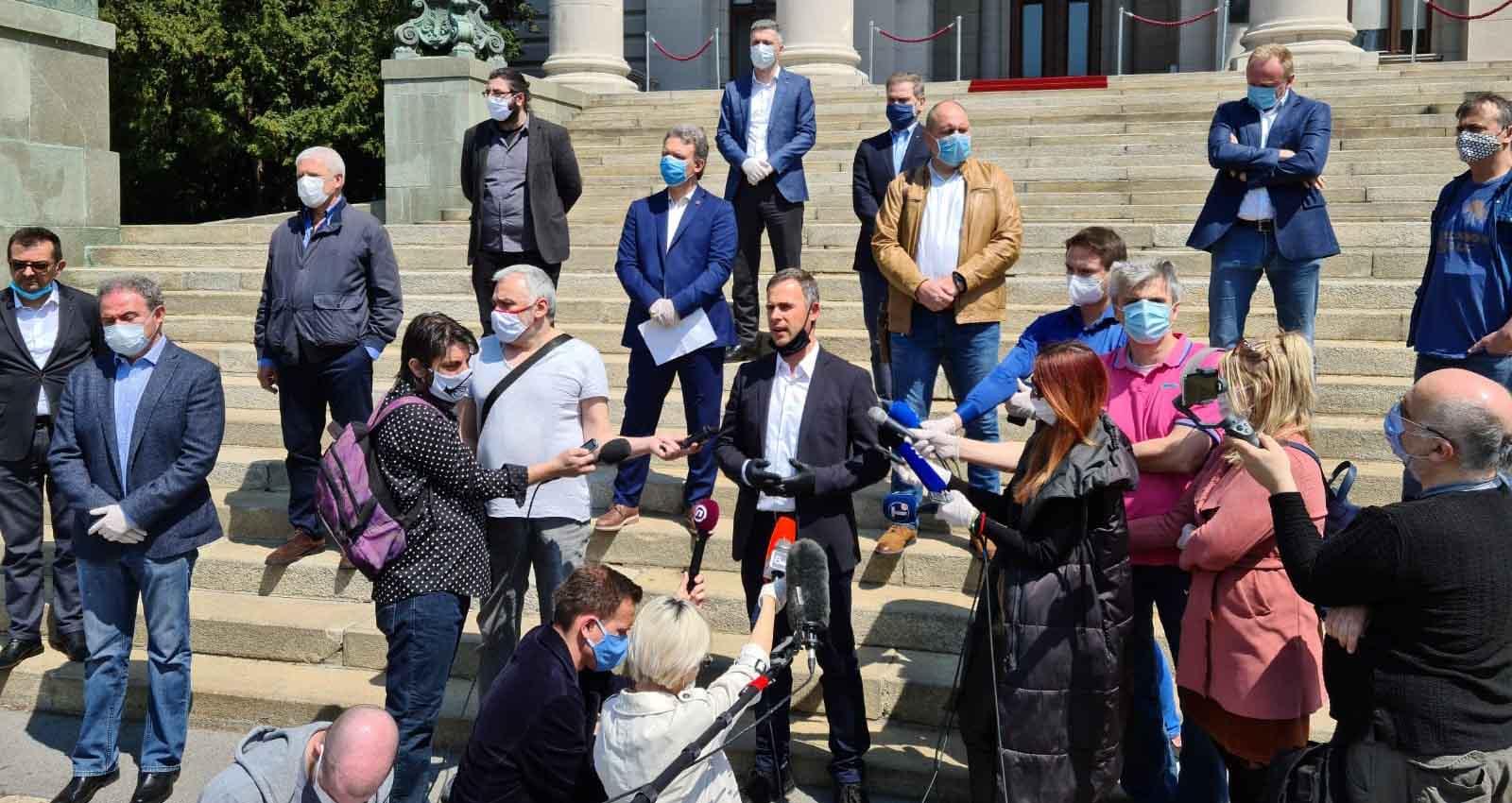 Алексић: У четвртак у 18 сати протест опозиције поводом полицијског часа од 83 сата
