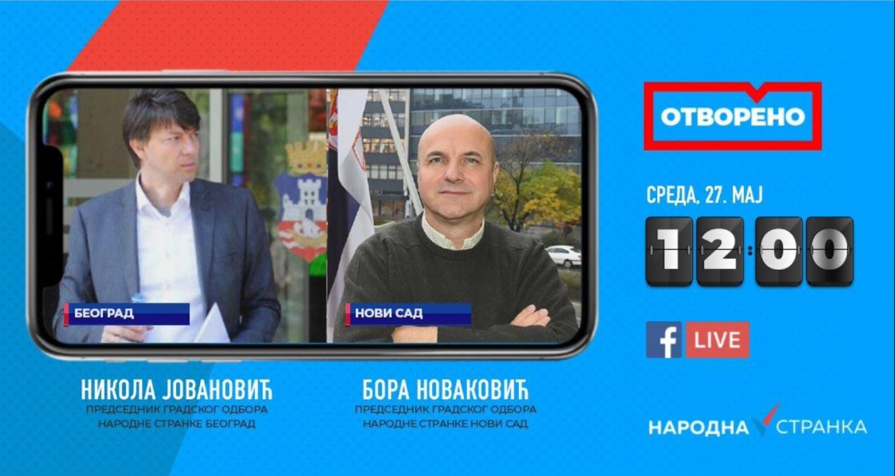 Новаковић и Јовановић у програму Отворено: Сузбићемо корупцију у Београду и Новом Саду