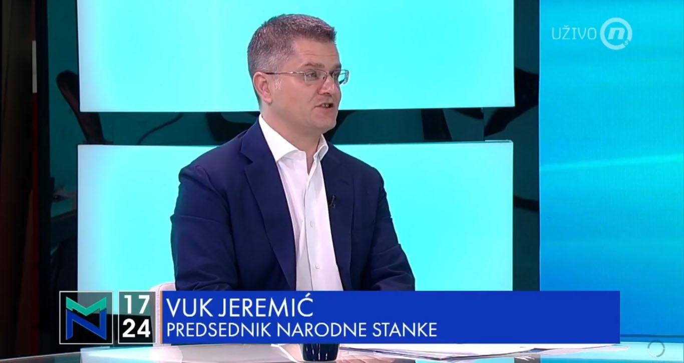 """Јеремић: Последњи Утисак недеље показао каква је понуда на """"изборима"""" 21.јуна"""