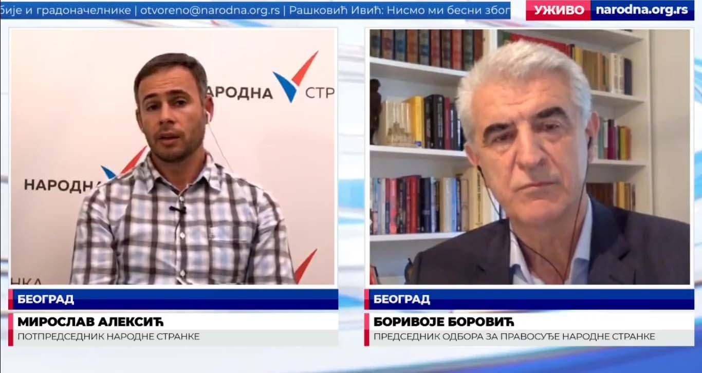 Боровић: Народ више не може да издржи оволики криминал и корупцију