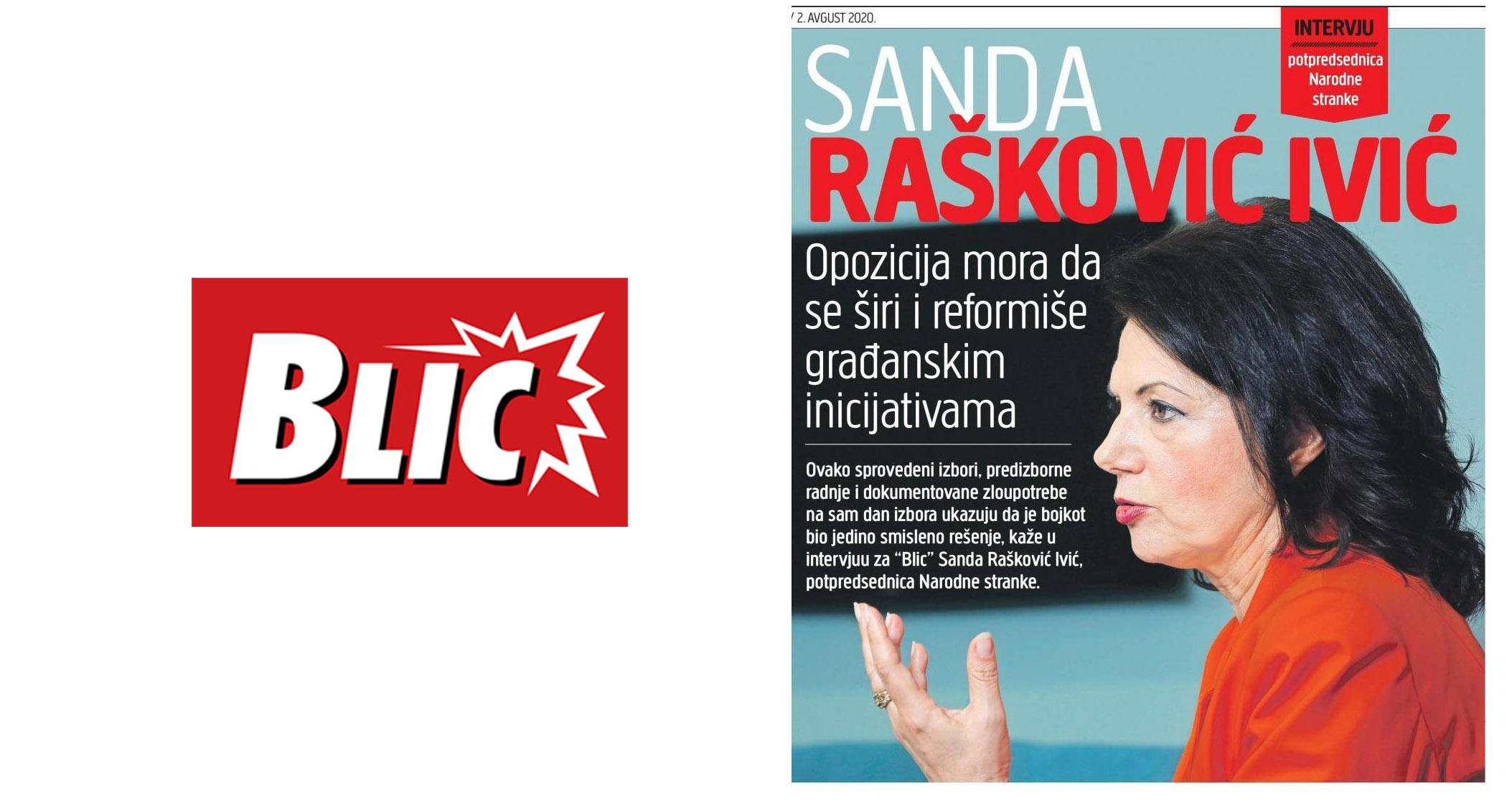 Санда Рашковић Ивић: Буди се слободна Србија, једнопартијски режим то не може да заустави