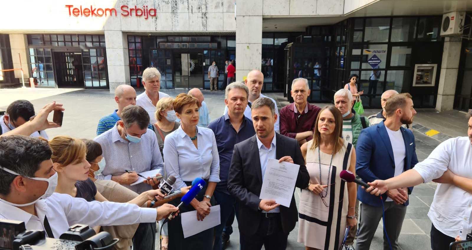 Алексић: Телеком, Влада Србије и ревизор да одговоре на питања, радници да дигну глас