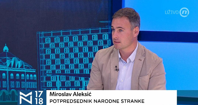 Алексић: Кључни захтев опозиције је ослобађање РТС-а и раздвајање избора