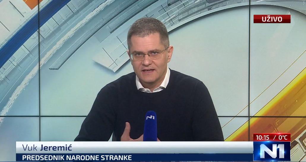 Јеремић: Опозицију да представљају један или два преговарача у дијалогу о изборима