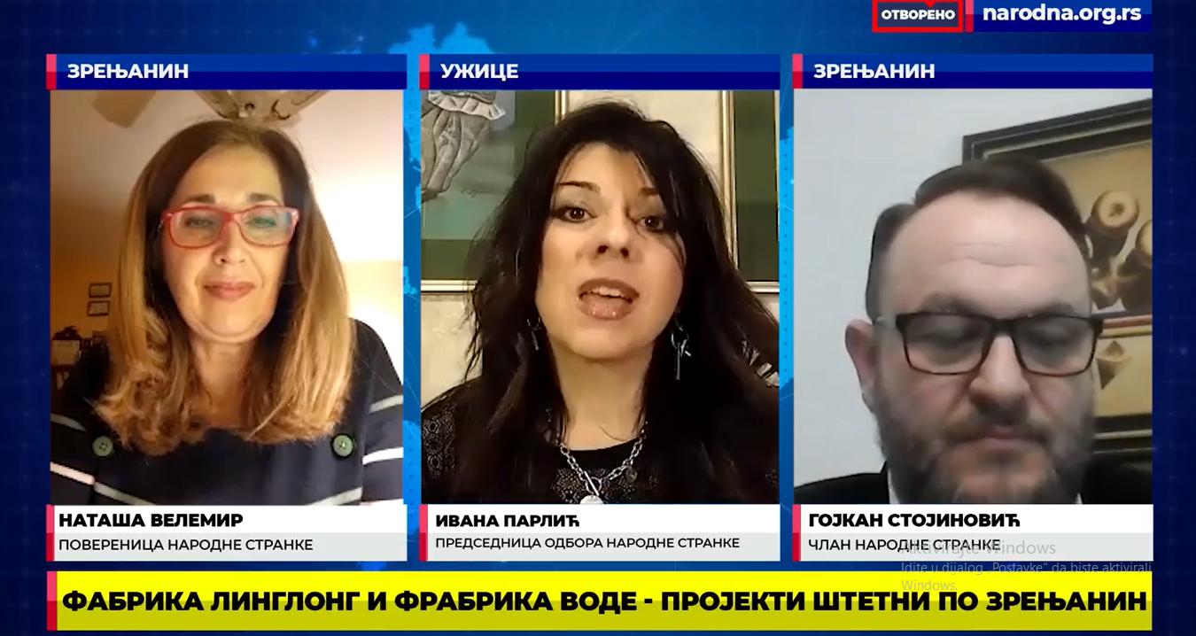 Народна странка: Линглонг и Фабрика воде пројекти штетни по Зрењанин