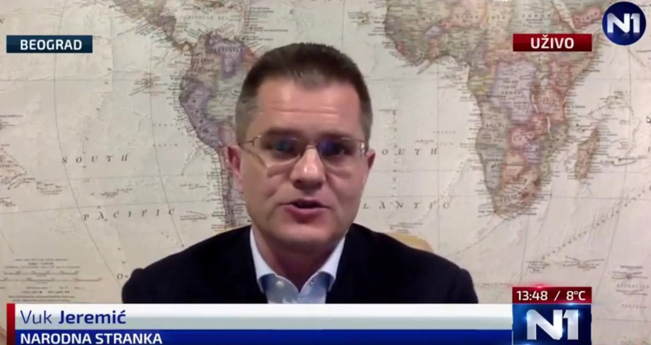 Јеремић: Народна странка за јединство опозиције, Ђилас да се коначно изјасни