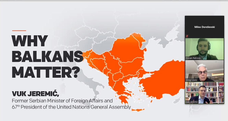 Јеремић: У Србији се није догодио крај историје, на Балкану се ништа не заборавља нити прашта