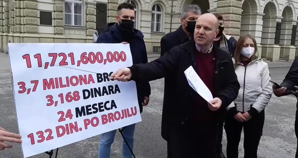 Новаковић: Вучевићевом пријатељу Босанцу 100 милиона евра за очитавање бројила