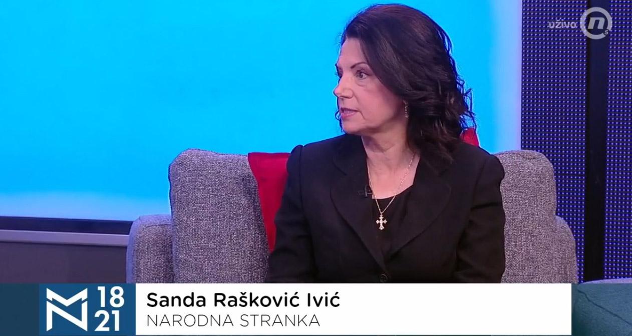 Санда Рашковић Ивић: Није забавно имати председника на нивоу адолесцента