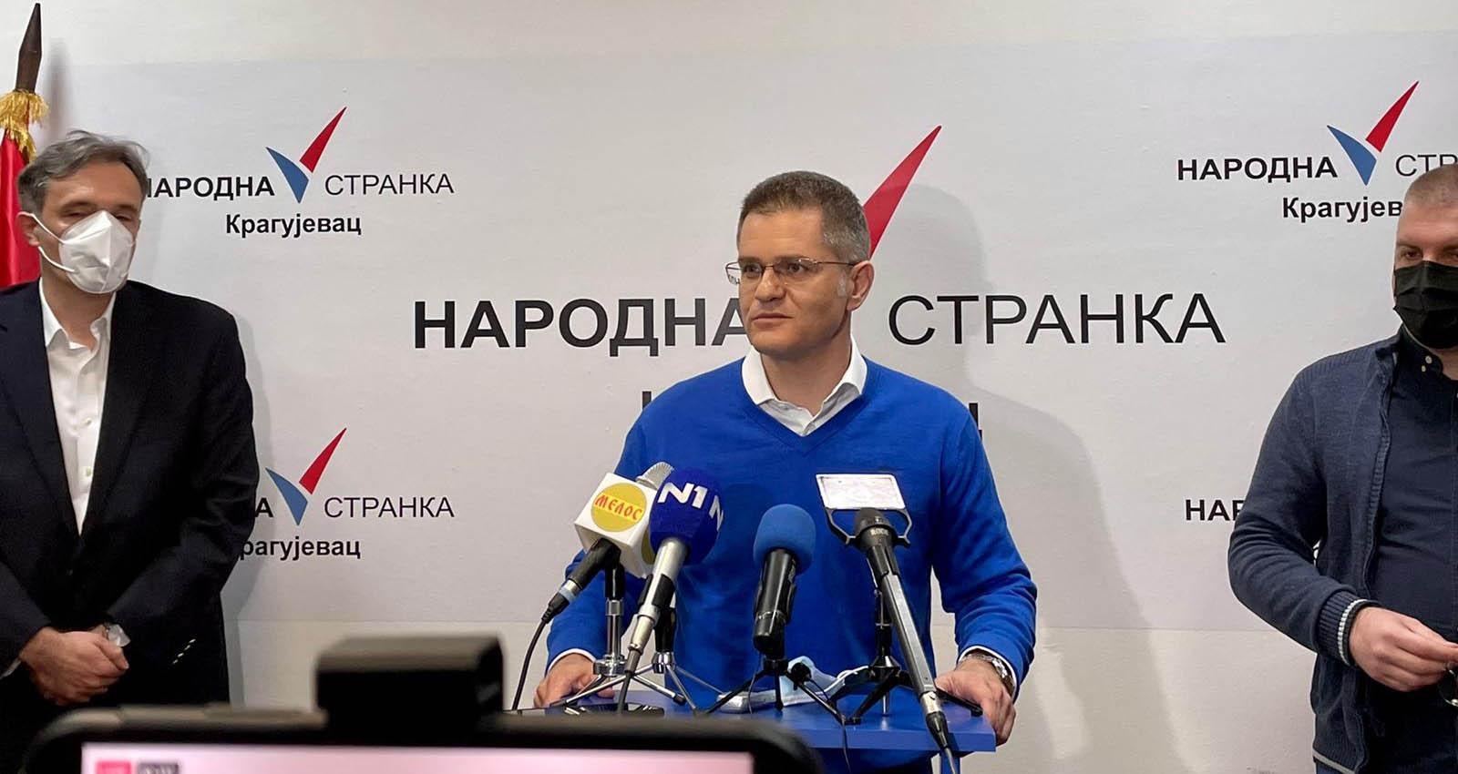 Јеремић:  Нема свађе у опозицији, Народна странка не мења став како ветар дува