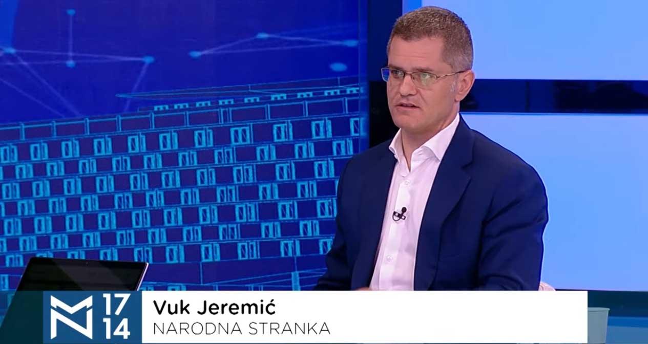 Јеремић: Друштво тешко оболело, сва снага државе усмерена у опстанак СНС-а на власти