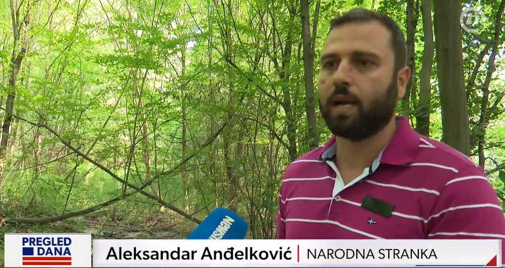 Анђелковић: Градски завод потврдио да у Липовачкој шуми цури вода из водоводног система