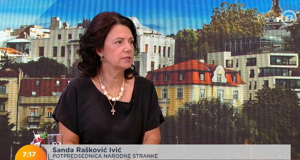 Санда Рашковић Ивић: Власт купује гласове пензионера, уместо да им врати отете пензије
