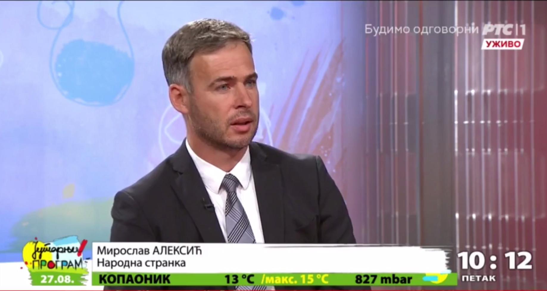 Алексић: Вучић увелико у кампањи, а још нису договорени изборни услови
